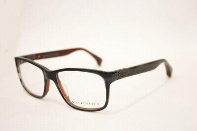 REPUBLICA San Antonio eyeglasses Frame Top Navy on Brown 55mm Designer (Top Eyeglass Designers)