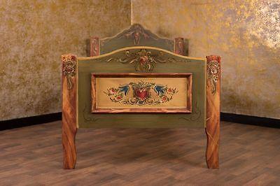 Landhaus Einzelbett Bett 100x200 cm 1x2 Abtenauer Bauernmöbel Schlafzimmer Antik