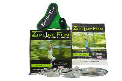 ZL70 Zipline Fun Playground Trolley Playset Zip Line Wire Trolley 70ft 30-7021](Zipline Fun)