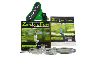 ZL70-Zipline-Fun-Playground-Trolley-Playset-Zip-Line-Wire-Trolley-70ft-30-7021