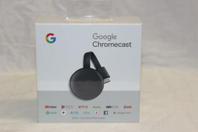 Google Chromecast 3rd Generation HDMI Media Streaming Device NEW!