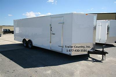 New 8.5 X 18 8.5x18 Enclosed Cargo Motorcycle Snowmobile Atv 4-wheeler Trailer