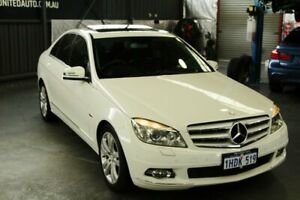 2009 Mercedes-Benz C-Class W204 C200 Kompressor Avantgarde Special Edition Alabaster White 5 Speed Myaree Melville Area Preview