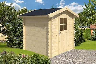 28mm Gartenhaus 200x200 cm Schuppen Gerätehaus Blockhaus Holz Holzhaus