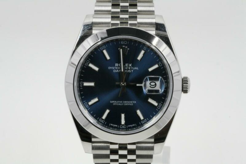 Rolex Datejust 41 Model 126300 Blue Index Dial -unworn-