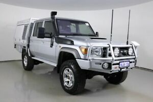 2015 Toyota Landcruiser VDJ79R MY12 Update GXL (4x4) Silver 5 Speed Manual Double Cab Chassis