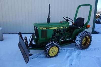 John Deere 650 Compact Tractor Wsnow Blade 424 Hours 4x4 16 Hp Yanmar Diesel