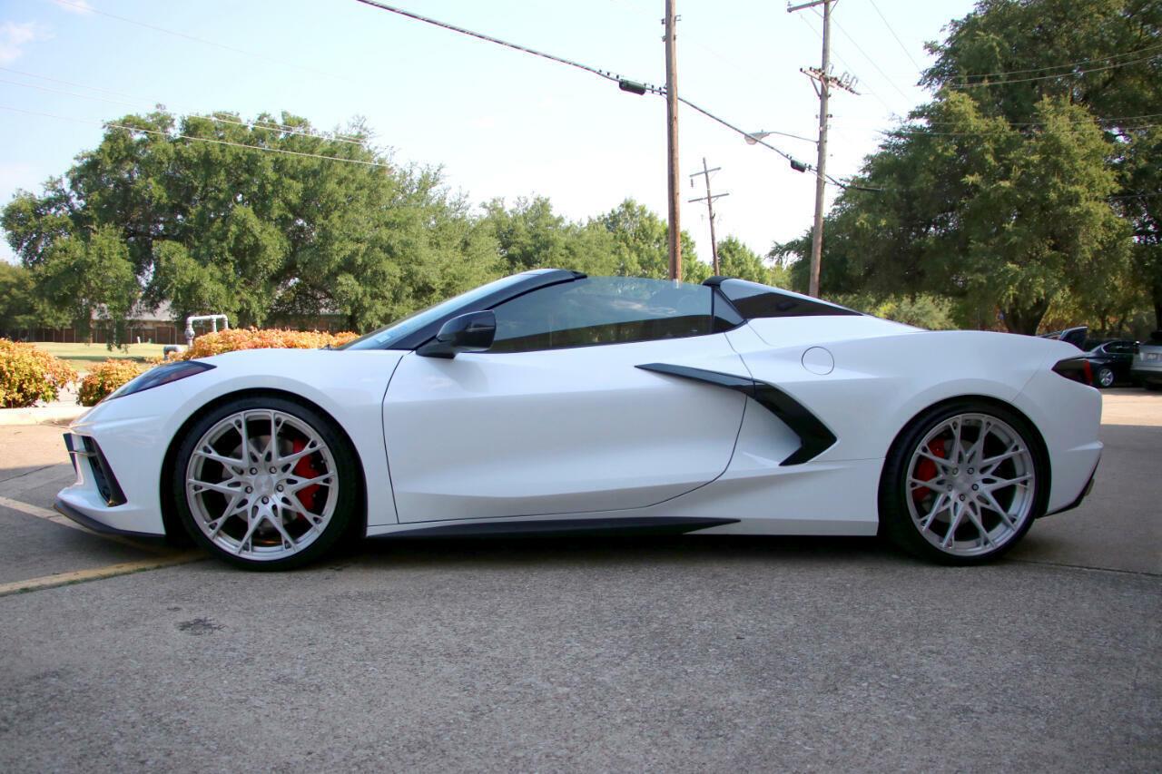 2021 White Chevrolet Corvette Convertible 3LT   C7 Corvette Photo 2