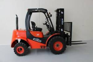 Off Road Terrain Forklift  3 Tonne 3 Stage Container Mast Molendinar Gold Coast City Preview