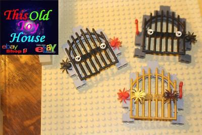 LEGO CASTLE GATE ASSEMBLY PIRATE HALLOWEEN CEMETARY CHOICE COLOR pre-owned & NEW - Halloween Assembly