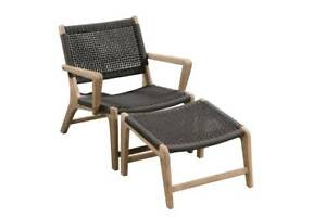 NEW DRIFT ROPE OUTDOOR LOUNGER CHAIR & FOOTREST