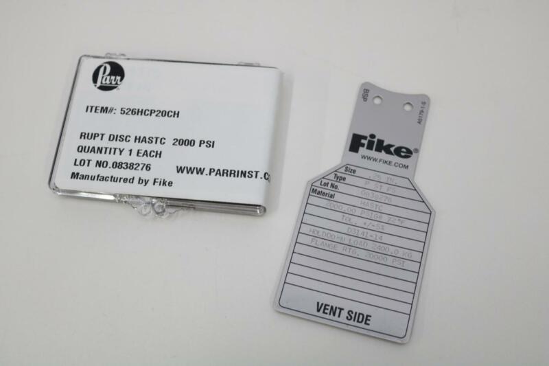 Parr Instruments 526HCP20CH Rupture Disc, HAST C,  2000 PSI