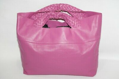FALORNI Italia Le Borse Pink Leather Large Tote Bag Handbag