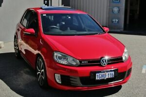 2011 Volkswagen Golf VI MY11 GTI DSG Red 6 Speed Sports Automatic Dual Clutch Hatchback Myaree Melville Area Preview