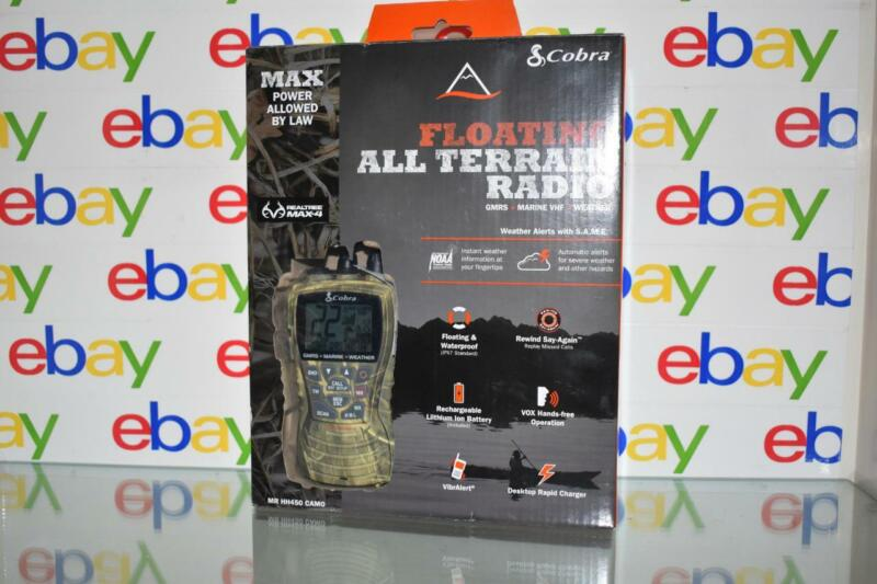 Cobra MR HH450 Camo Marine VHF/GMRS/Weather Floating All Terrain Radio NIB