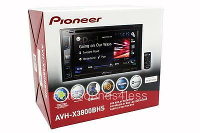 "Pioneer AVH-X3800BHS DVD/MP3/CD Player 6.2"" LCD Bluetooth HD Radio Remote New"