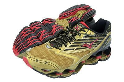 New Men's Mizuno Wave Prophecy 5 Running Shoes Size 9 Gold/Black/Red Last Pair Mizuno Black Shoes