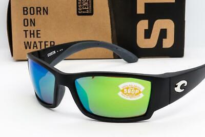 Costa Del Mar Corbina Sunglasses Black frame / Green Mirror 580P Polarized lens