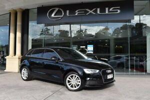 2018 Audi A3 8V MY18 Sportback S Tronic Black 7 Speed Sports Automatic Dual Clutch Hatchback