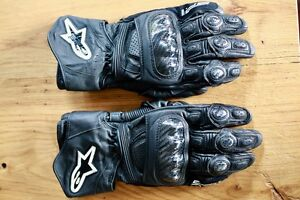 Alpinestars SP-1 Leather/ Carbon fibre motorcycle gloves Curl Curl Manly Area Preview