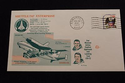 SPACE SHUTTLE COVER 1977 MACHINE CANCEL 2ND MANNED ACTIVE CAPTIVE FLIGHT (1058)