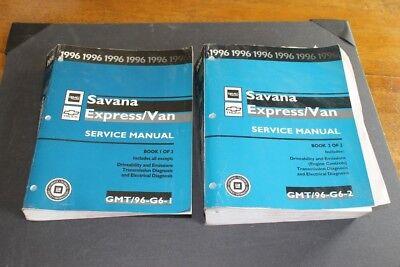 1996 GMC Savana & Chevy Express/Van 2 vol. Factory Service Manual Set.