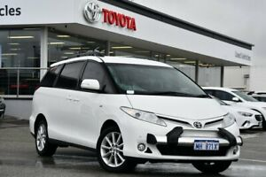 2015 Toyota Tarago ACR50R MY13 GLX Glacier White 7 Speed Constant Variable Wagon
