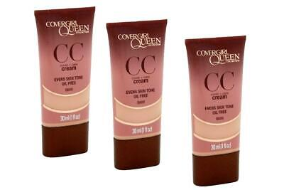 Pack of 3 Covergirl Queen CC Cover+Care Cream Oil Free Rich Sand Q600 1 - Oil Rich Sand