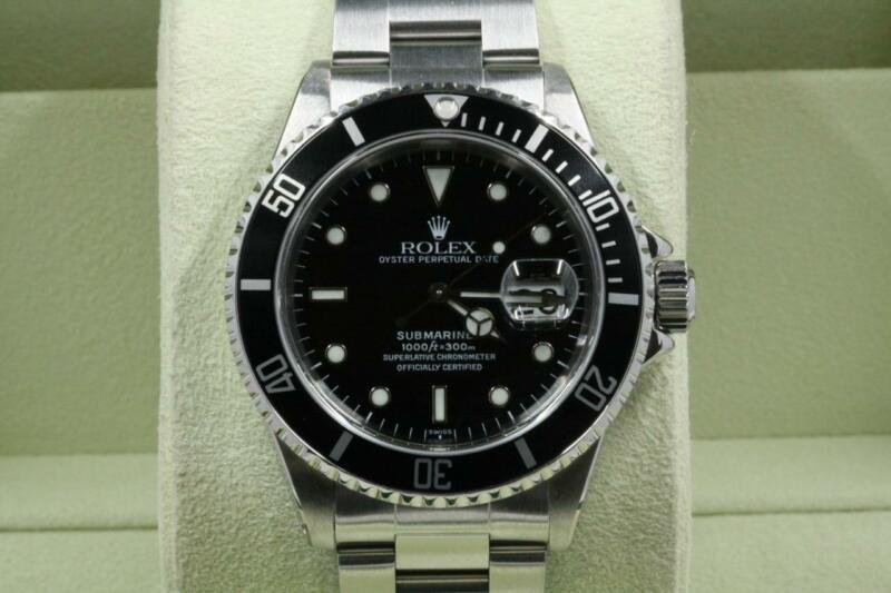 Rolex Submariner-date 16610 Black Dial And Bezel 1999 Model With Papers
