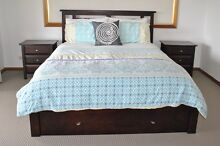 QUEEN SIDE TIMBER BED + SIDE TABLES Engadine Sutherland Area Preview