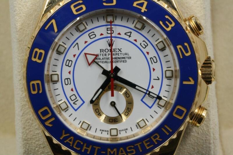 Rolex Yachtmaster Ii 116688 18k Yellow Gold Watch 2017 Model
