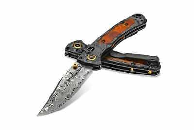 Benchmade 15085-201 Gold Class Mini Crooked River AXIS Lock Knife Damasteel