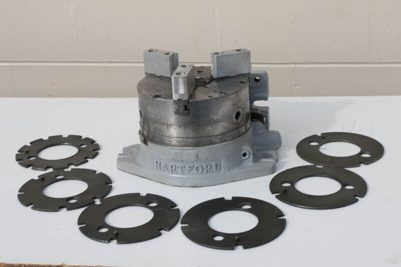 "Hartford  8"" Special Super Spacer Index Table W/ 8"" Chuck and EXTRA PLATES"