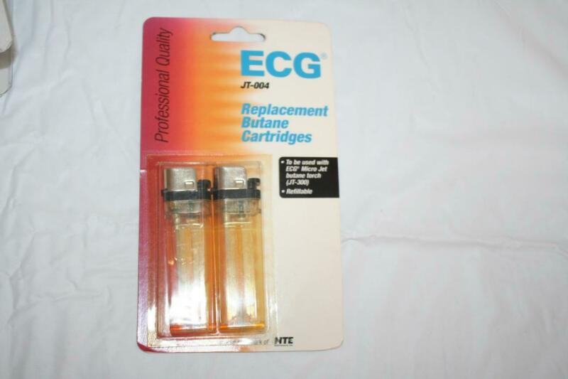 NTE ECG JT-004 Replacement Butane Cartridges for ECG J-300 Torch 2-Pack