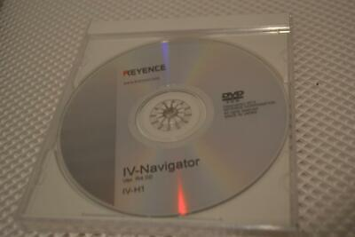 One New Keyence Iv-navigator Iv-h1 Dvd And Instruction Manuals .