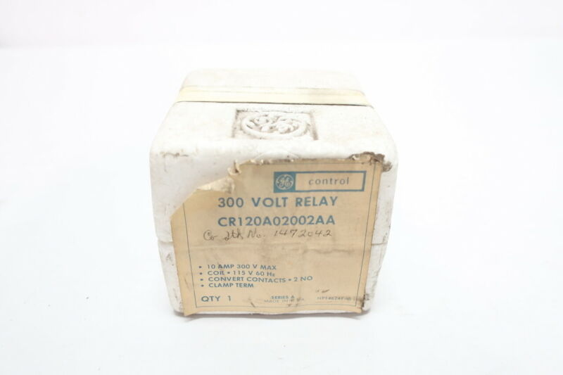 General Electric Ge CR120A02002AA Control Relay 115v-ac