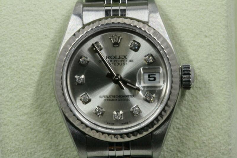 Rolex Lady-datejust 79174 Silver Diamond Dial 2001 Model