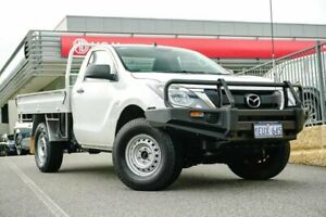 2015 Mazda BT-50 UP0YF1 XT White 6 Speed Sports Automatic Cab Chassis