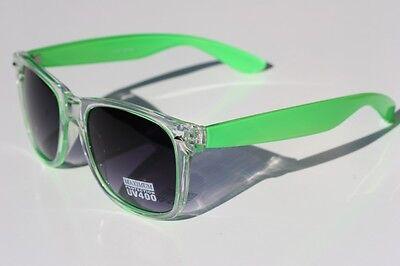 Clear NEON GREEN Retro Vintage Sunglasses Gradient lens 80's](Neon Green Sunglasses)