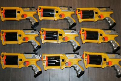 LOT 9 NERF N-STRIKE MAVERICK REV-6 TOY GUNS FOAM DART BLASTERS 2004 HASBRO NICE