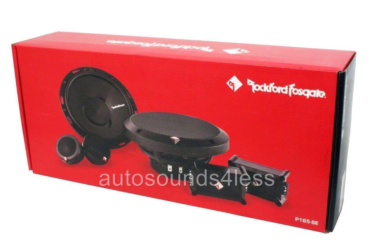 Rockford Fosgate P165 Se 120 W 65 2 Way Component Speaker Speakers System 6 1 New