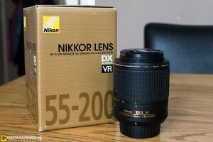 Nikon 55-200mm lens VR2 version as new with box.