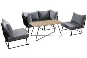 BLACK ROPE OSLO 4 PIECE CASUAL DINING SETTING