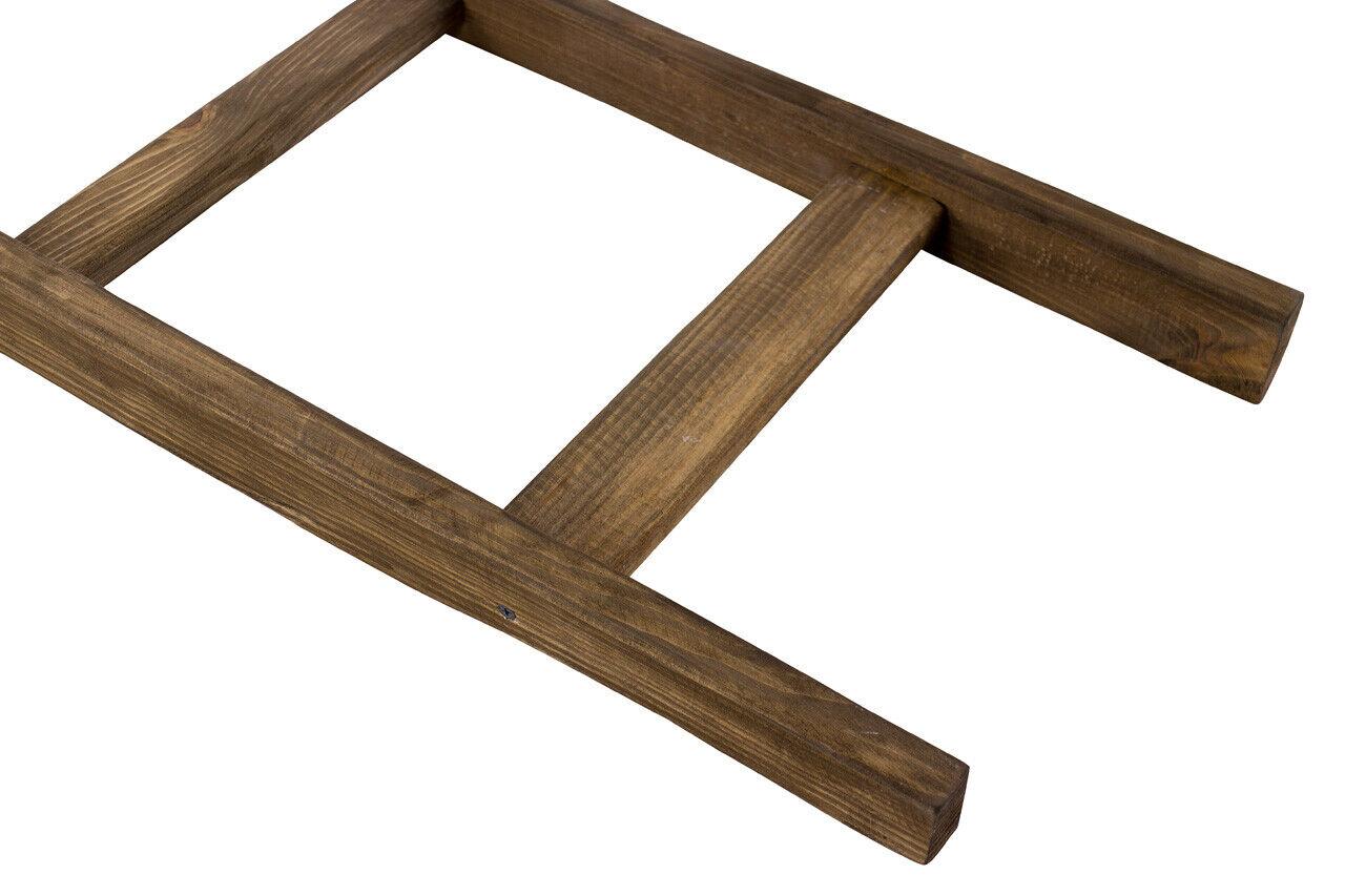 Neue, braune Holzleiter, original aus dem Alten Land für kreative DIY Dekoration