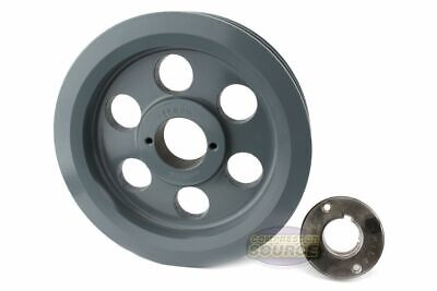 Cast Iron 7.75 2 Groove Dual Belt B Section 5l Pulley W 1-38 Sheave Bushing