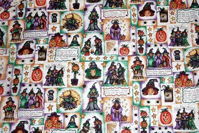 Marcus Brothers Halloween Theme Collage Squares Script Dianna Marcum BTY OOP](Marcus Brothers Halloween Fabric)