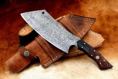 MH Knives Heavy Duty Damascus Chef HandmadeKnife Meat Cleaver Butcher Chopper 21