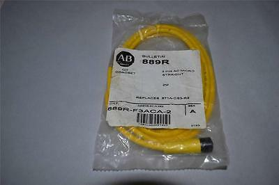 One New Allen Bradley 3 Pin 2 Meter Ac Straight Micor Qd Cordset 899r-f3aca-2
