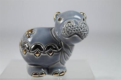 De Rosa Rinconada NEW Mini Collection 'Mini Hippo' Figurine #M04 New In Box