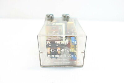 Ontario Hydro Cdvx Voltage Plug-in Relay 47-92v-dc